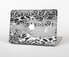 "The White and Black Real Leopard Print Skin Set for the Apple MacBook Pro 15"" with Retina Display"
