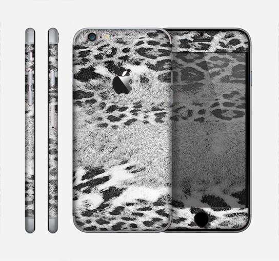 The White and Black Real Leopard Print Skin for the Apple iPhone 6