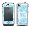 The White and Blue Raining Yarn Clouds Apple iPhone 4-4s LifeProof Fre Case Skin Set