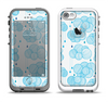 The White and Blue Raining Yarn Clouds Apple iPhone 5-5s LifeProof Fre Case Skin Set