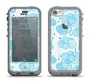 The White and Blue Raining Yarn Clouds Apple iPhone 5c LifeProof Nuud Case Skin Set