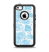 The White and Blue Raining Yarn Clouds Apple iPhone 5c Otterbox Defender Case Skin Set