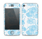 The White and Blue Raining Yarn Clouds Skin for the Apple iPhone 4-4s