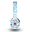 The White and Blue Raining Yarn Clouds Skin for the Original Beats by Dre Wireless Headphones