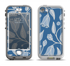 The White and Blue Vector Branches Apple iPhone 5-5s LifeProof Nuud Case Skin Set