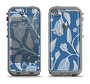 The White and Blue Vector Branches Apple iPhone 5c LifeProof Fre Case Skin Set