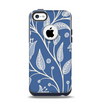 The White and Blue Vector Branches Apple iPhone 5c Otterbox Commuter Case Skin Set