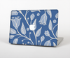 "The White and Blue Vector Branches Skin Set for the Apple MacBook Pro 13"" with Retina Display"