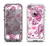 The White and Pink Birds with Floral Pattern Apple iPhone 5-5s LifeProof Fre Case Skin Set