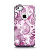 The White and Pink Birds with Floral Pattern Apple iPhone 5c Otterbox Commuter Case Skin Set