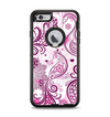 The White and Pink Birds with Floral Pattern Apple iPhone 6 Plus Otterbox Defender Case Skin Set