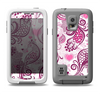 The White and Pink Birds with Floral Pattern Samsung Galaxy S5 LifeProof Fre Case Skin Set