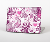The White and Pink Birds with Floral Pattern Skin Set for the Apple MacBook Pro 15""