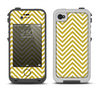 The White & vintage Green Sharp Chevron Pattern Apple iPhone 4-4s LifeProof Fre Case Skin Set