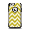 The White & vintage Green Sharp Chevron Pattern Apple iPhone 6 Otterbox Commuter Case Skin Set