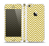 The White & vintage Green Sharp Chevron Pattern Skin Set for the Apple iPhone 5