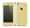 The White & vintage Green Sharp Chevron Pattern Skin Set for the Apple iPhone 5s