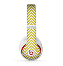 The White & vintage Green Sharp Chevron Pattern Skin for the Beats by Dre Studio (2013+ Version) Headphones