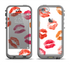 The White with Colored Pucker Lip Prints Apple iPhone 5c LifeProof Fre Case Skin Set