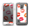 The White with Colored Pucker Lip Prints Samsung Galaxy S5 LifeProof Fre Case Skin Set