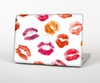 "The White with Colored Pucker Lip Prints Skin Set for the Apple MacBook Pro 15"" with Retina Display"