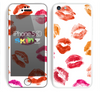 The White with Colored Pucker Lip Prints Skin for the Apple iPhone 5c