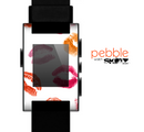 The White with Colored Pucker Lip Prints Skin for the Pebble SmartWatch