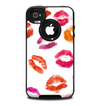 The White with Colored Pucker Lip Prints Skin for the iPhone 4-4s OtterBox Commuter Case
