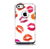 The White with Colored Pucker Lip Prints Skin for the iPhone 5c OtterBox Commuter Case