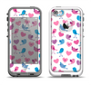The White with Pink & Blue Vector Tweety Birds Apple iPhone 5-5s LifeProof Fre Case Skin Set