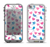 The White with Pink & Blue Vector Tweety Birds Apple iPhone 5-5s LifeProof Nuud Case Skin Set