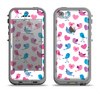 The White with Pink & Blue Vector Tweety Birds Apple iPhone 5c LifeProof Fre Case Skin Set