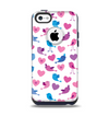 The White with Pink & Blue Vector Tweety Birds Apple iPhone 5c Otterbox Commuter Case Skin Set