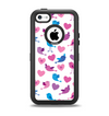 The White with Pink & Blue Vector Tweety Birds Apple iPhone 5c Otterbox Defender Case Skin Set