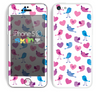 The White with Pink & Blue Vector Tweety Birds Skin for the Apple iPhone 5c