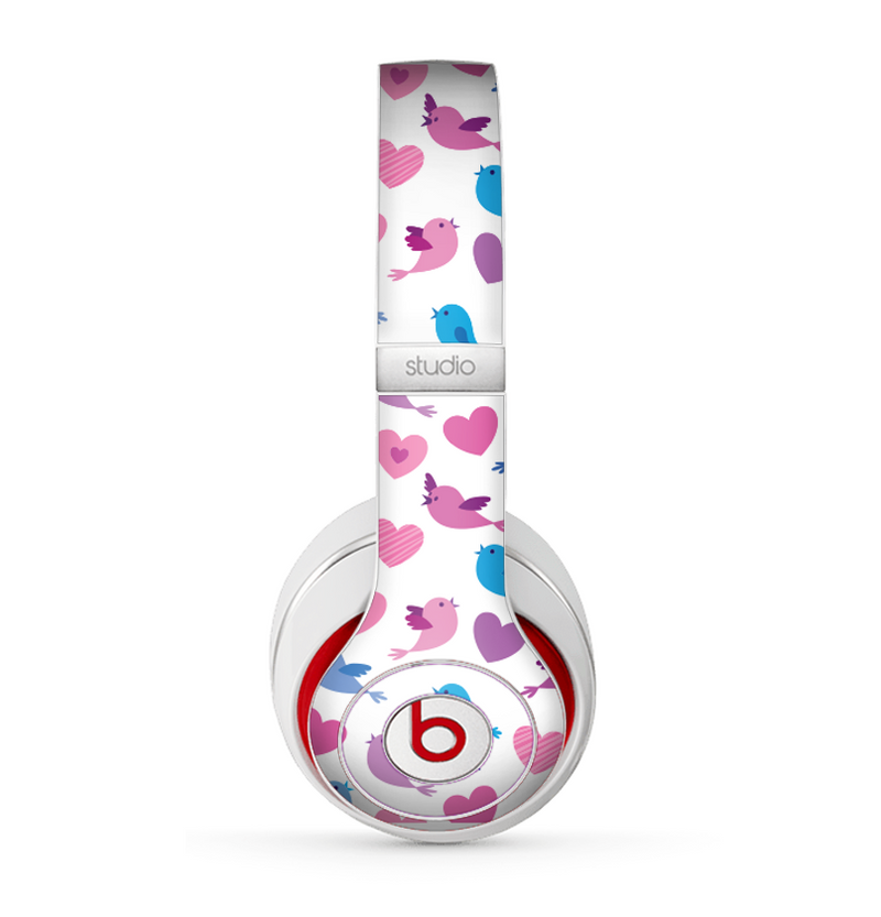 The White with Pink & Blue Vector Tweety Birds Skin for the Beats by Dre Studio (2013+ Version) Headphones