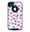 The White with Pink & Blue Vector Tweety Birds Skin for the iPhone 4-4s OtterBox Commuter Case