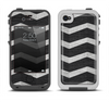 The Wide Black and Light Gray Chevron Pattern V3 Apple iPhone 4-4s LifeProof Fre Case Skin Set