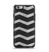 The Wide Black and Light Gray Chevron Pattern V3 Apple iPhone 6 Otterbox Symmetry Case Skin Set