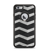 The Wide Black and Light Gray Chevron Pattern V3 Apple iPhone 6 Plus Otterbox Defender Case Skin Set