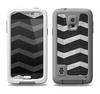 The Wide Black and Light Gray Chevron Pattern V3 Samsung Galaxy S5 LifeProof Fre Case Skin Set
