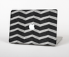 The Wide Black and Light Gray Chevron Pattern V3 Skin Set for the Apple MacBook Pro 15""