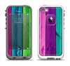 The Wide Neon Wood Planks Apple iPhone 5-5s LifeProof Fre Case Skin Set