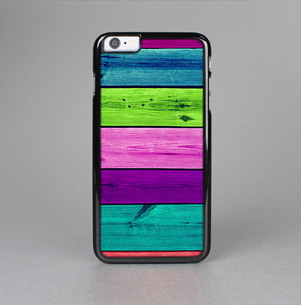 The Wide Neon Wood Planks Skin-Sert Case for the Apple iPhone 6 Plus