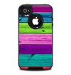 The Wide Neon Wood Planks Skin for the iPhone 4-4s OtterBox Commuter Case