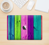 "The Wide Neon Wood Planks Skin Kit for the 12"" Apple MacBook"
