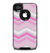 The Wide Pink Vintage Colored Chevron Pattern V6 Skin for the iPhone 4-4s OtterBox Commuter Case