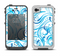 The Wild Blue Swirly Vector Water Pattern Apple iPhone 4-4s LifeProof Fre Case Skin Set
