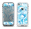 The Wild Blue Swirly Vector Water Pattern Apple iPhone 5-5s LifeProof Fre Case Skin Set