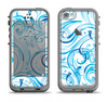 The Wild Blue Swirly Vector Water Pattern Apple iPhone 5c LifeProof Fre Case Skin Set